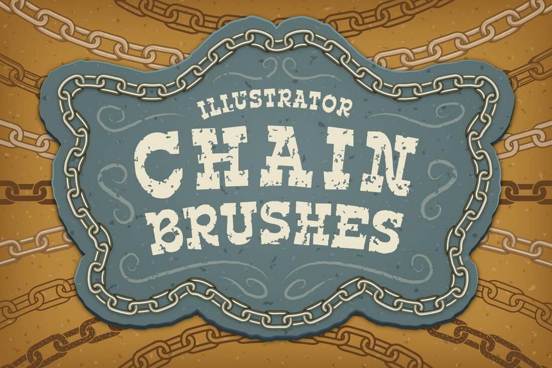 Illustrator-Chain-Brushes 30+ Best High-Quality Photoshop & Illustrator Brushes design tips
