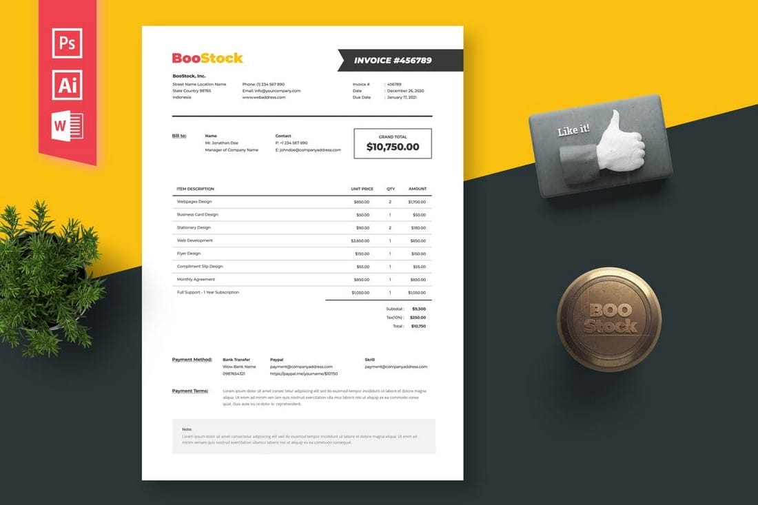Illustrator-Invoice-Template-for-Small-Businesses 20+ Best Invoice Templates for InDesign & Illustrator (Free + Premium) design tips