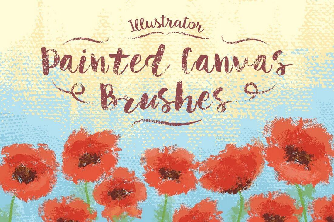Illustrator-Painted-Canvas-Brushes 30+ Best High-Quality Photoshop & Illustrator Brushes design tips