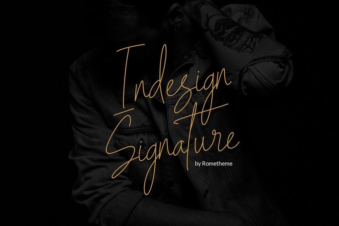 Indesign Signature Script Font