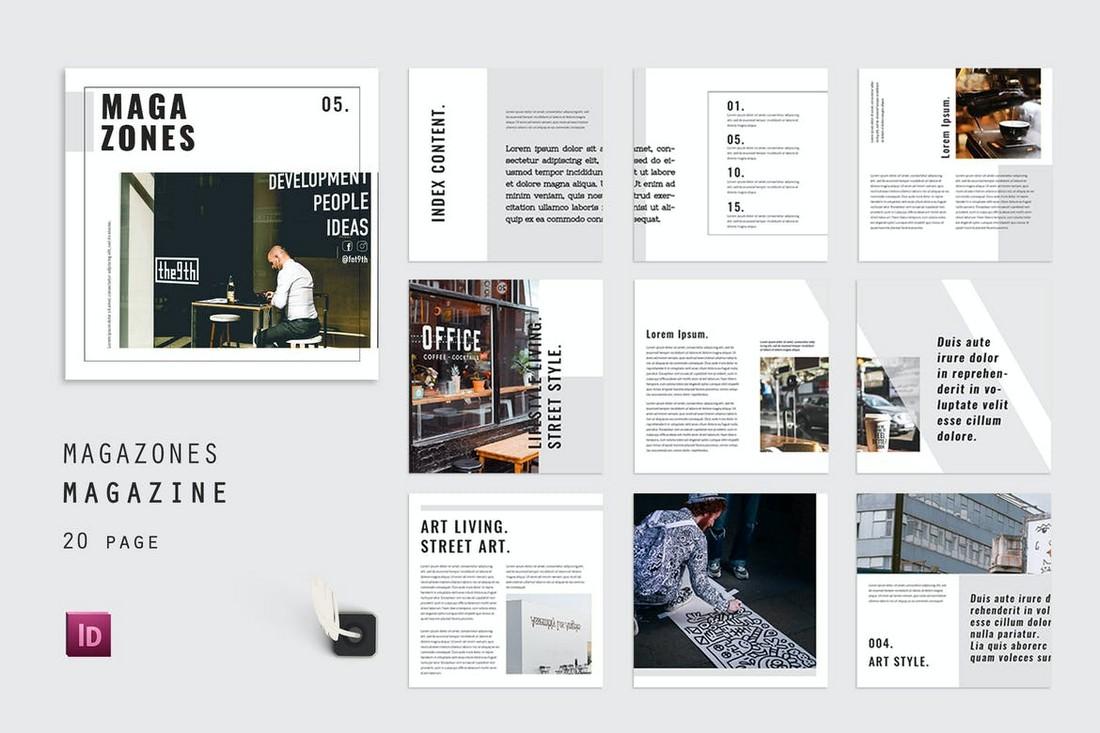 Index-Magazones-InDesign-Magazine-Template 30+ Best InDesign Magazine Templates 2021 (Free & Premium) design tips