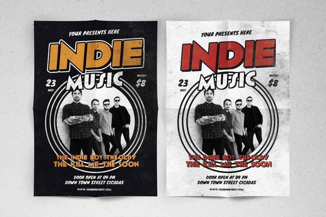 Indie Music Band Flyer Template