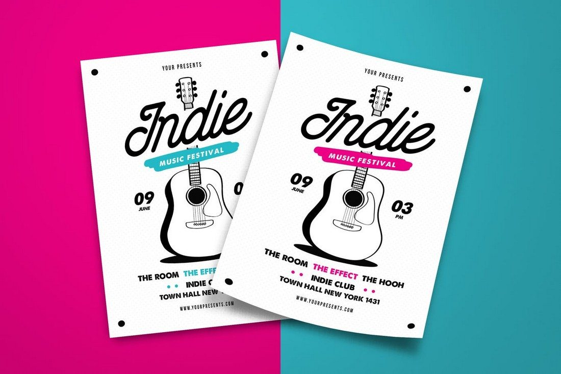 Indie-Music-Festival 30+ Best Music & Band Flyer Templates design tips