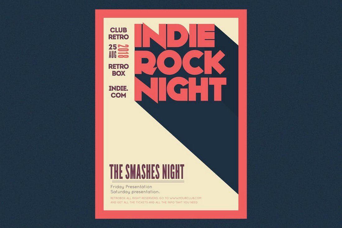 Indie-Rock-Night-Flyer-Poster 27 Inspiring Letterpress Style Posters design tips