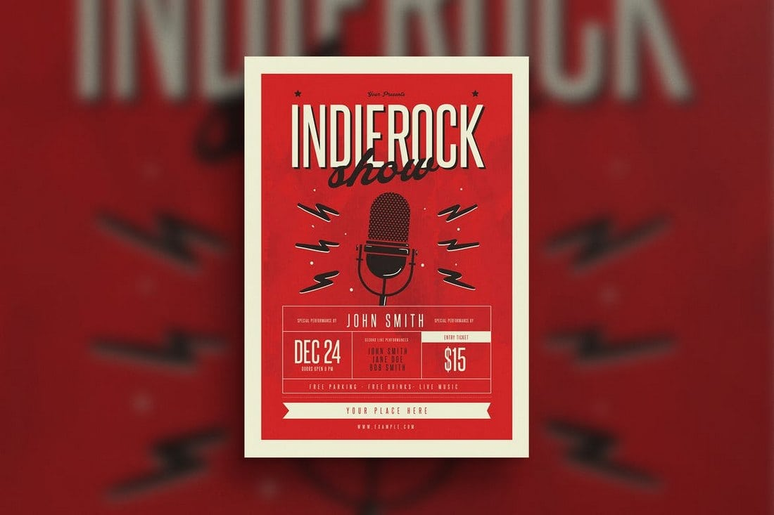 Indierock-Event-Flyer 20+ Best Event Flyer Templates design tips