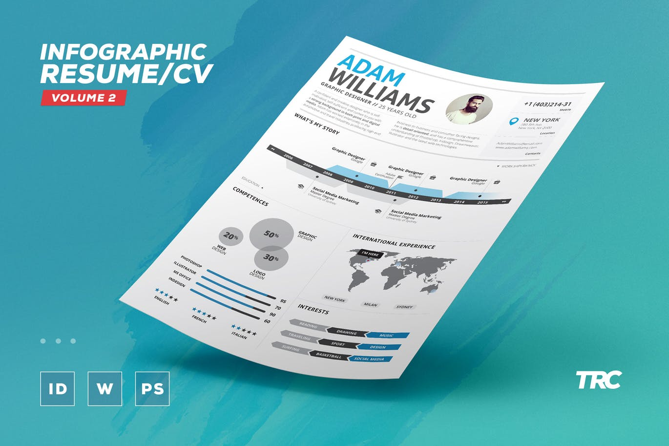 Infographic-Resume 50+ Best CV & Resume Templates 2020 design tips