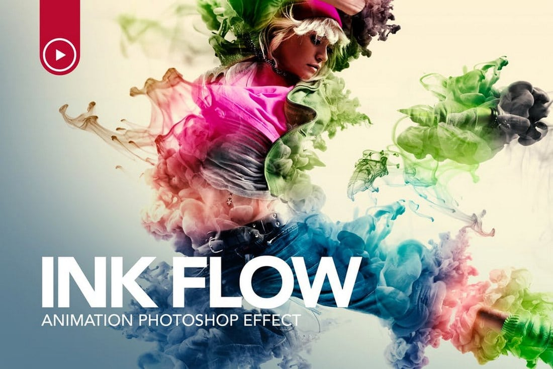 Ink-Flow-Animation-Photoshop-Action-1 20+ Best Photoshop Filters + Plugins 2020 (+ How to Use Them) design tips