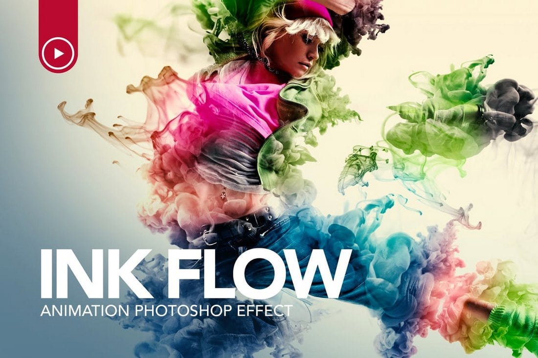 Ink Flow Animation Photoshop Action