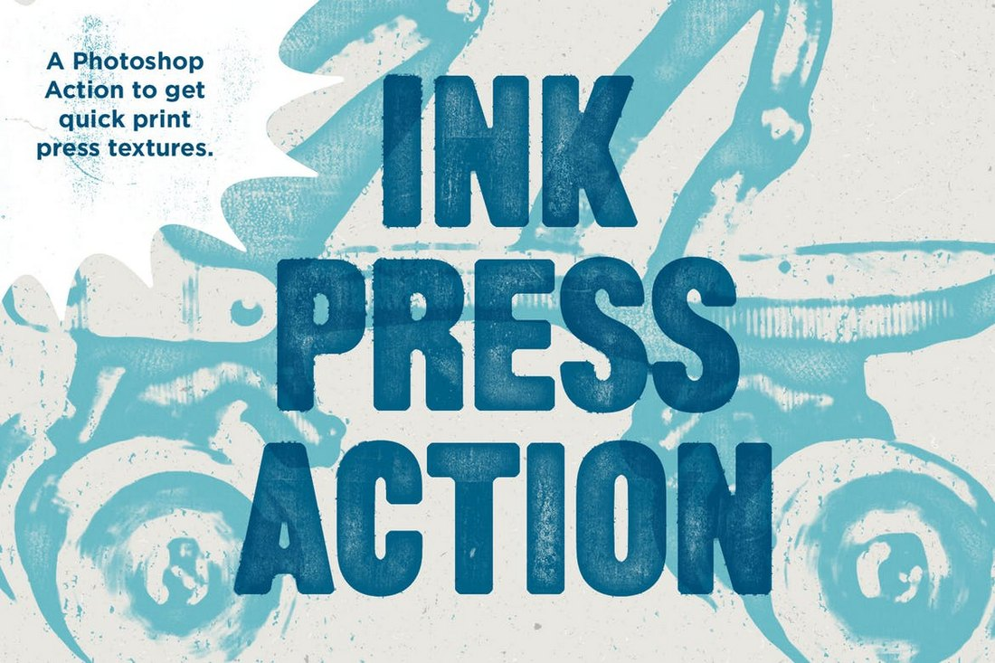 Ink Press Type - Vintage Photoshop Action