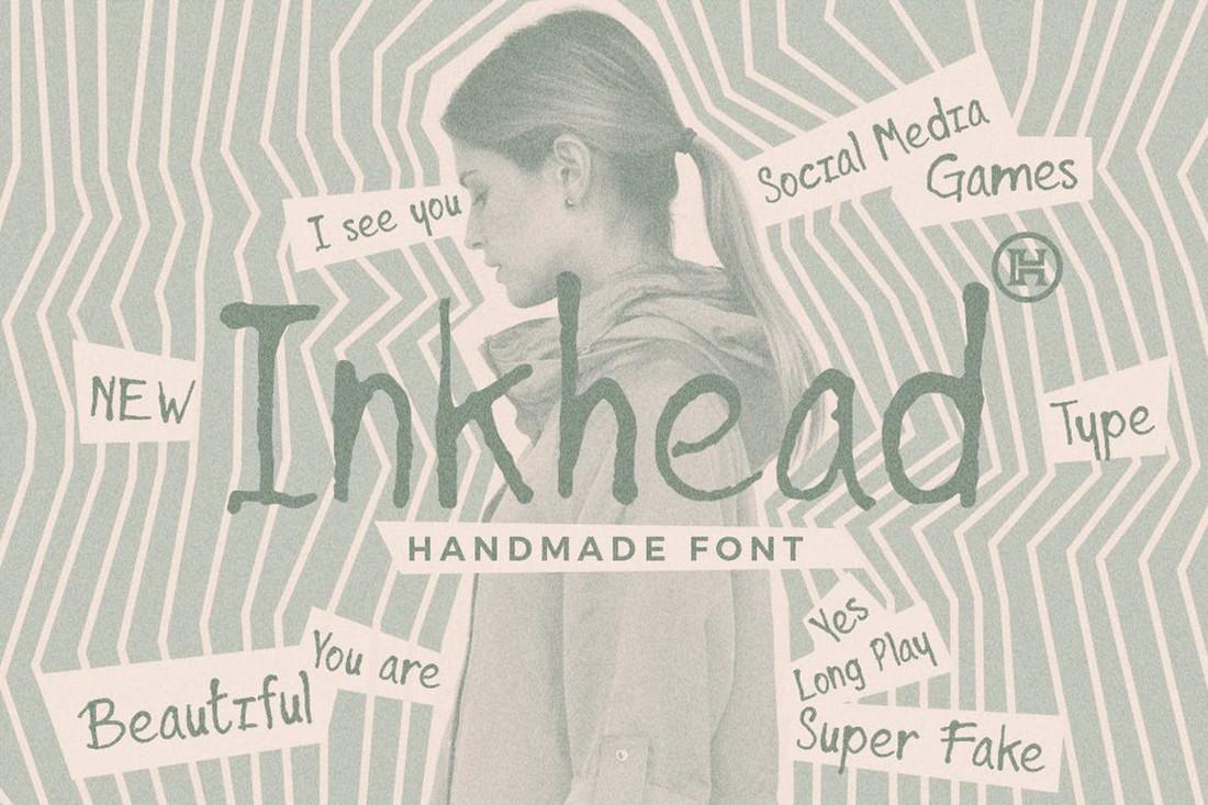 Inkhead - Penstroke Procreate Font