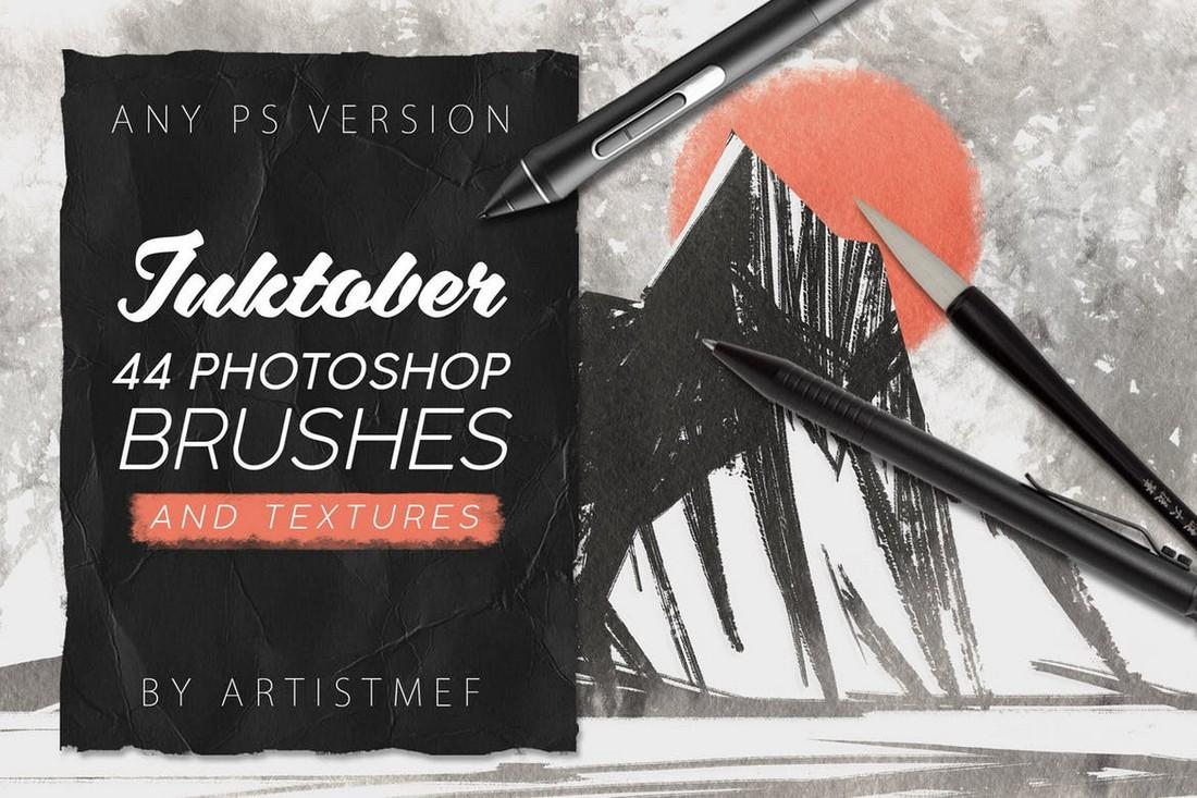 Inktober - Photoshop Brushes & Textures