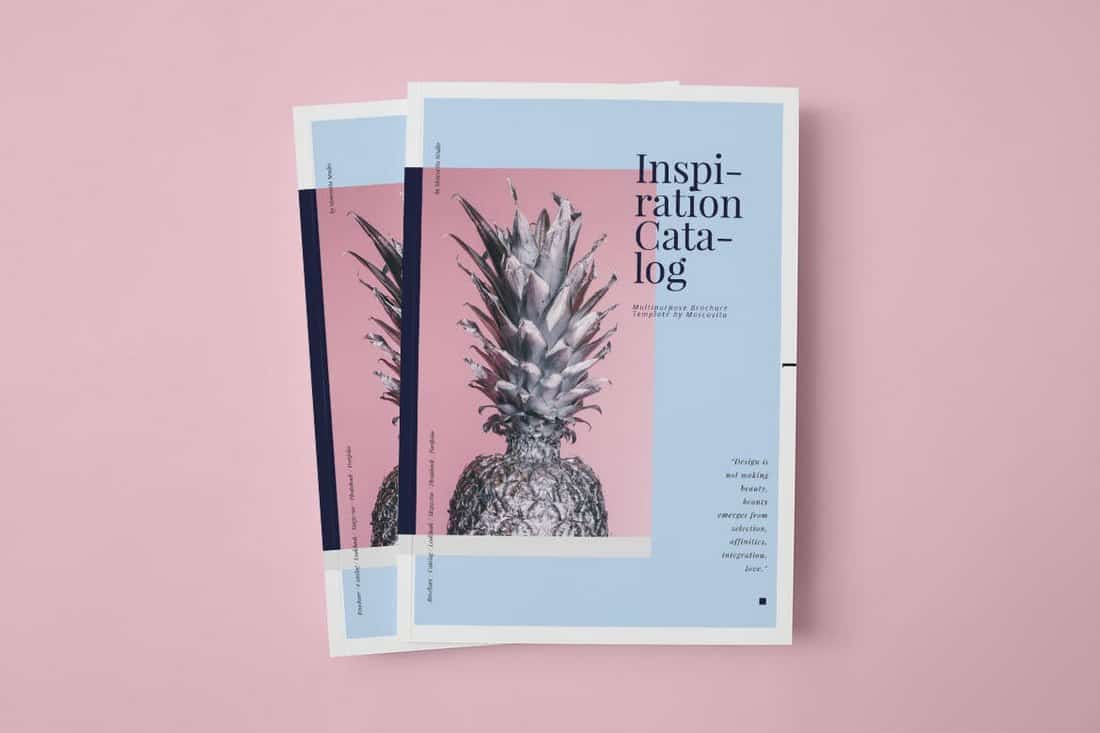 Inspiration Catalog Brochure Template