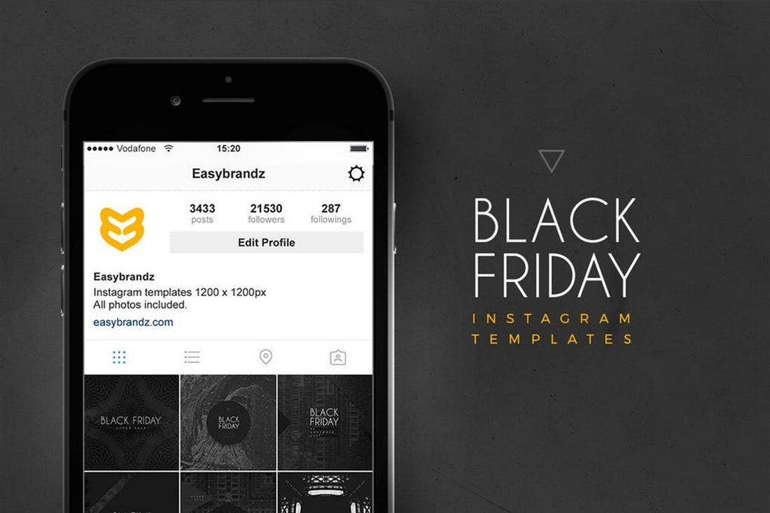 Instagram-Black-Friday-Templates 30+ Best Instagram Templates & Banners design tips