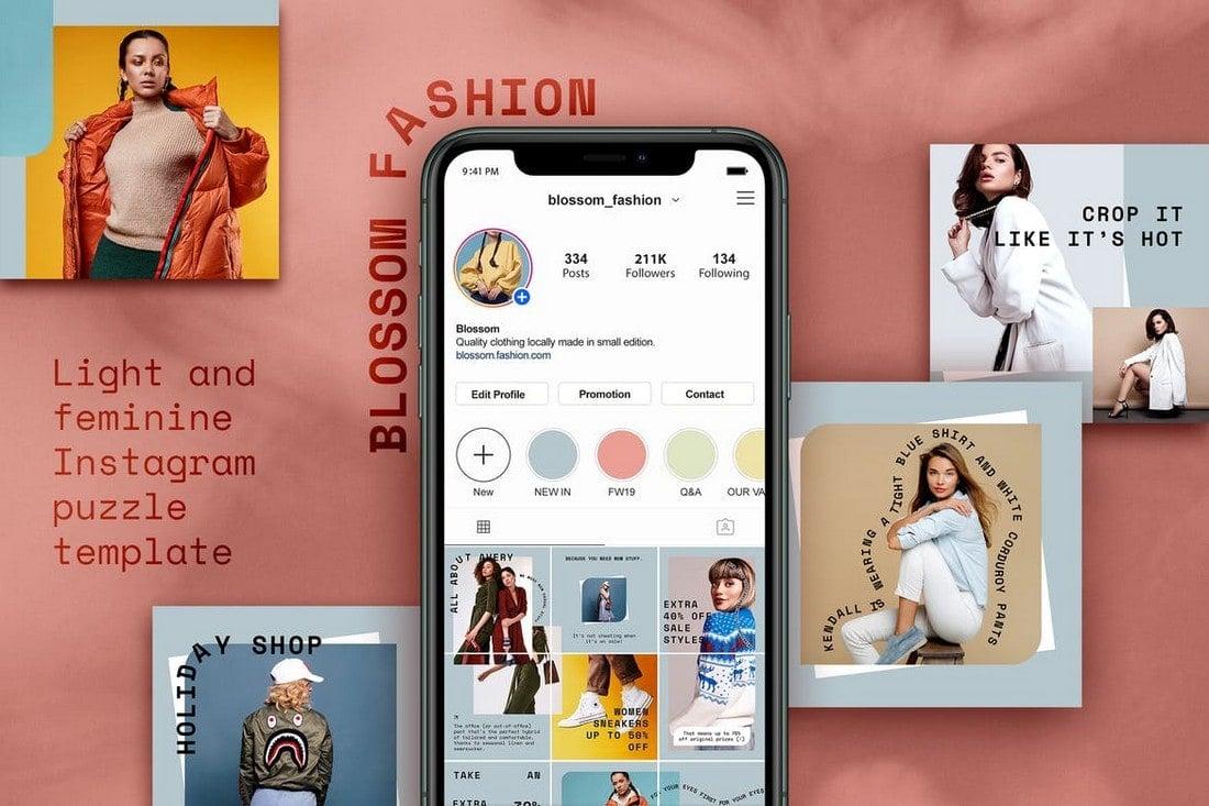 Instagram Fashion Puzzle Feed Layout