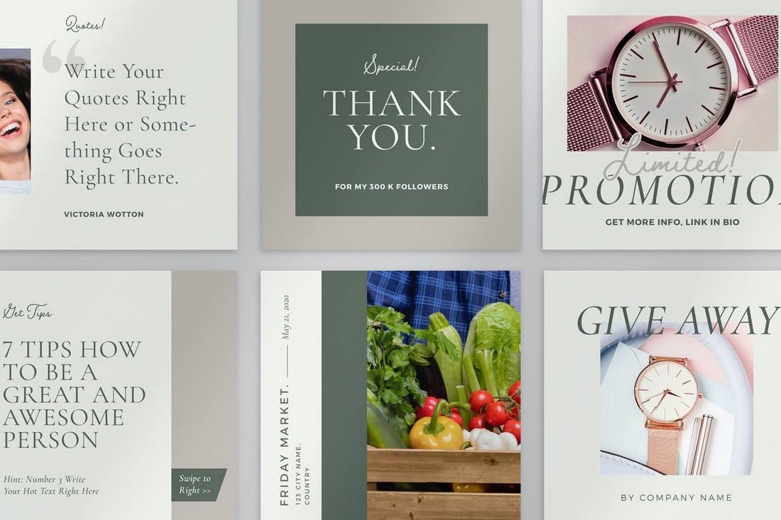 Instagram Giveaway Contest Templates