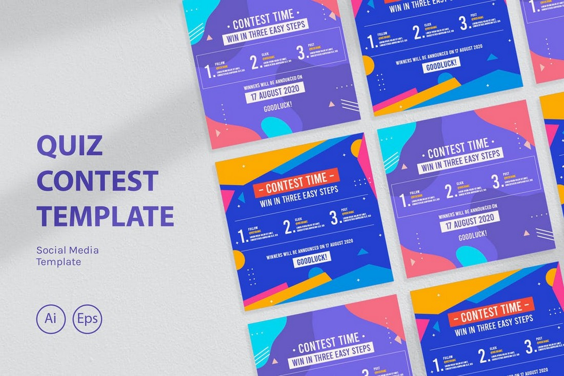 Instagram Giveaway & Quiz Contest Template