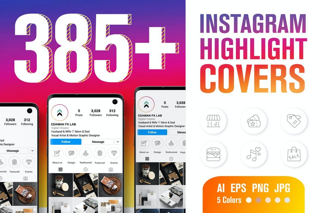 Instagram Highlight Cover Icons Pack