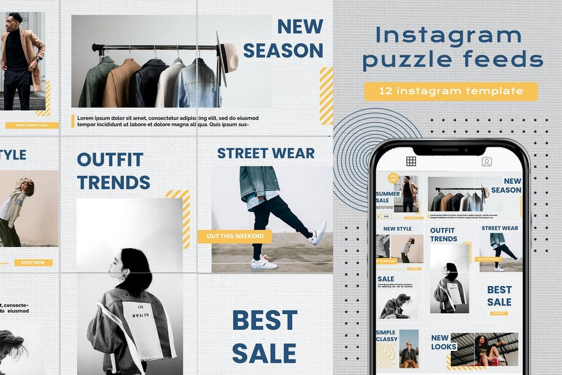 Instagram Puzzle Feed Template for eCommerce Brands