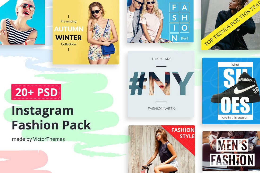 Instagram-Social-Media-Fashion-Banners 30+ Best Instagram Templates & Banners design tips