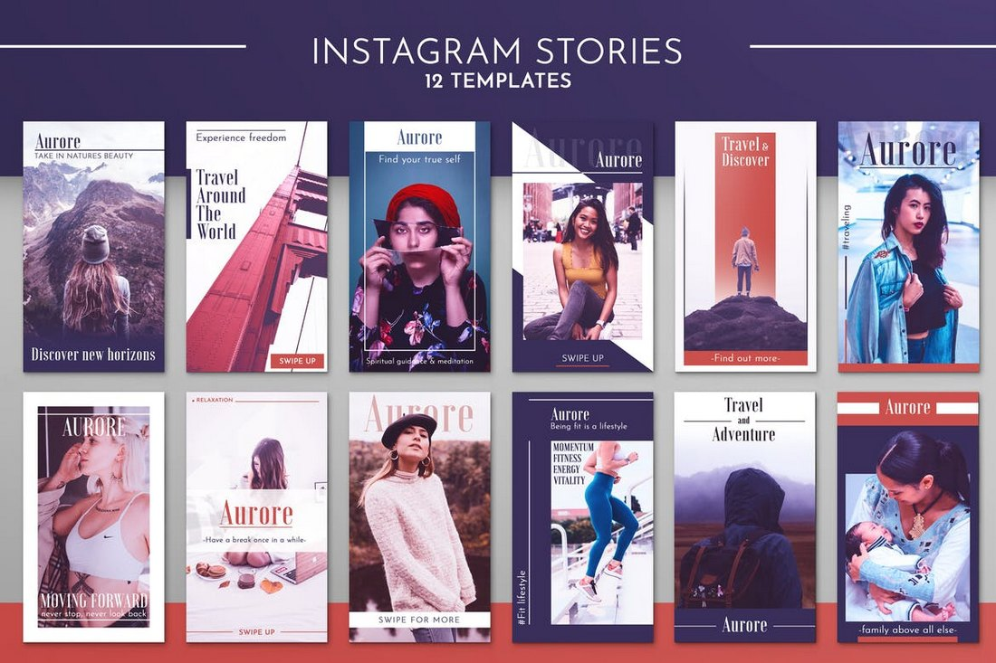 Instagram-Story-Template-Kit 30+ Best Instagram Templates & Banners design tips