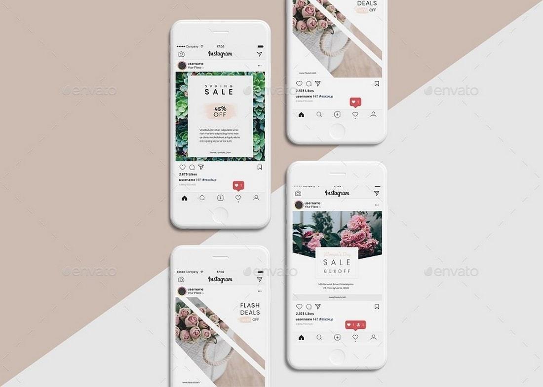 Instagram UI Mockup Templates
