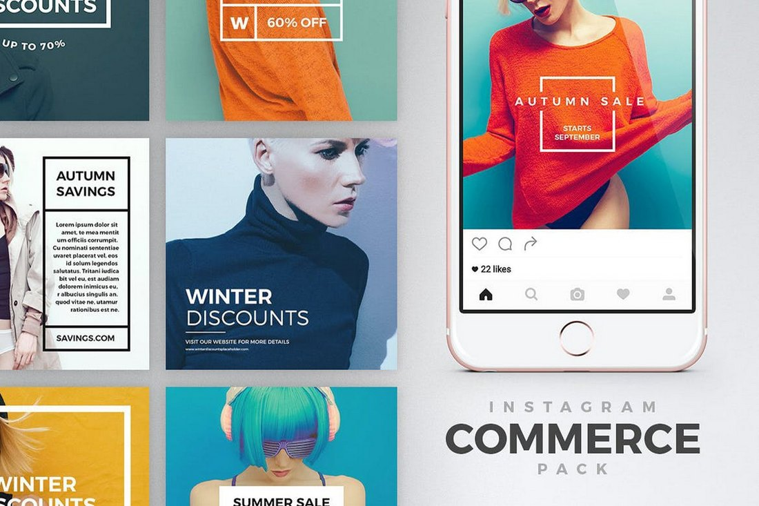 Instagram-eCommerce-Banners-Pack 30+ Best Instagram Templates & Banners design tips