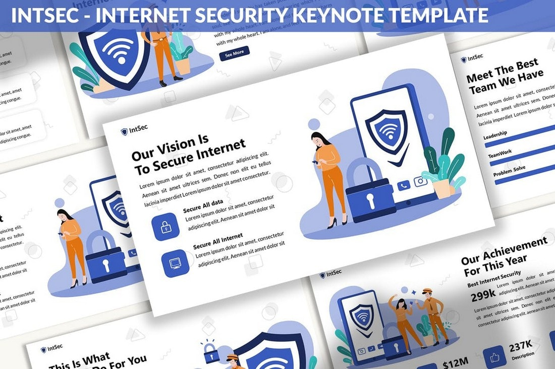 Intsec - Internet Security Keynote Template
