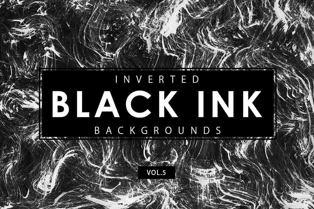 Inverted-Black-Ink-Backgrounds-5-1 20+ Black Texture Background Graphics design tips