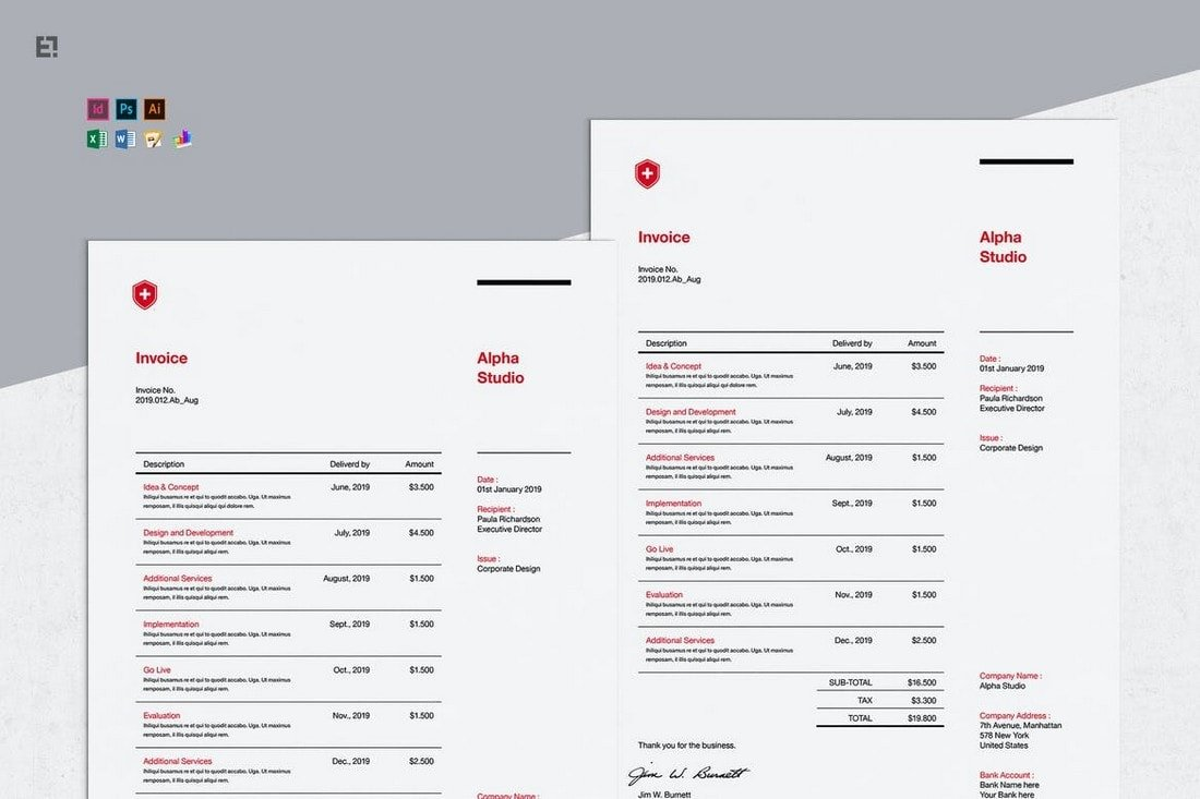 Invoice Pro - Affinity Publisher Template