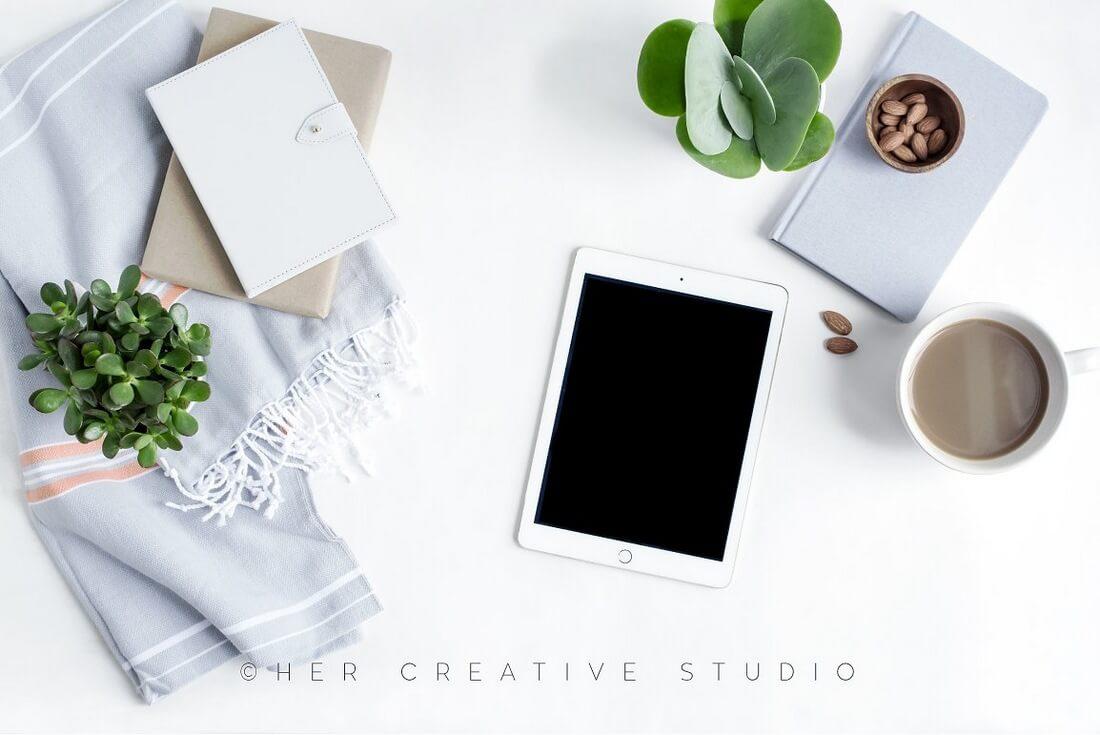 Ipad-Mockup-Succulent-Neutral 100+ iPad Mockups: PSDs, Photos & Vectors design tips
