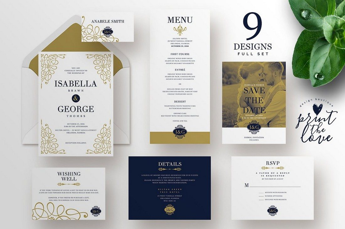 90 gorgeous wedding invitation templates design shack isabella wedding invitation suite stopboris