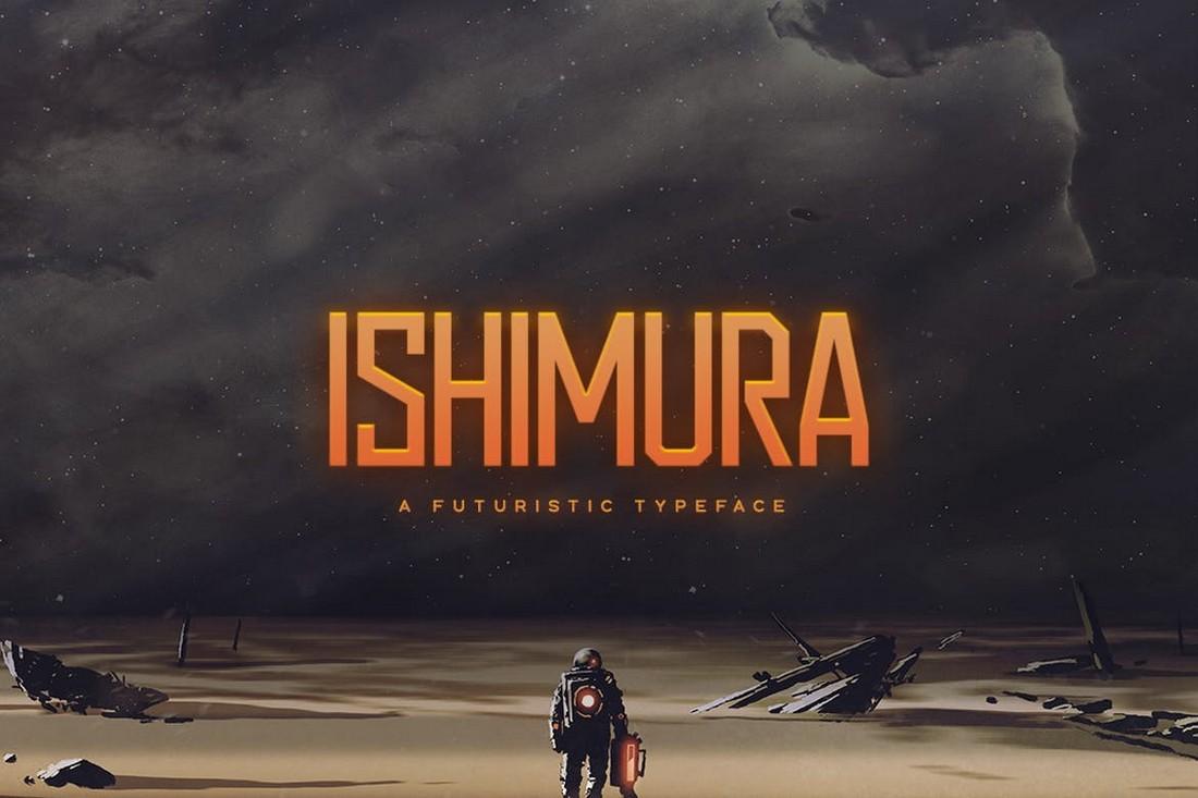 Ishimura - Futuristic Poster Font