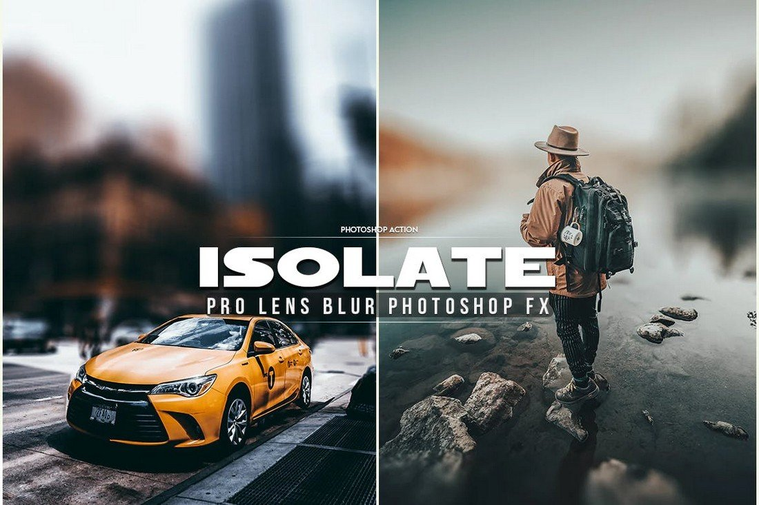 Isolate - Lens Blur Photoshop Action