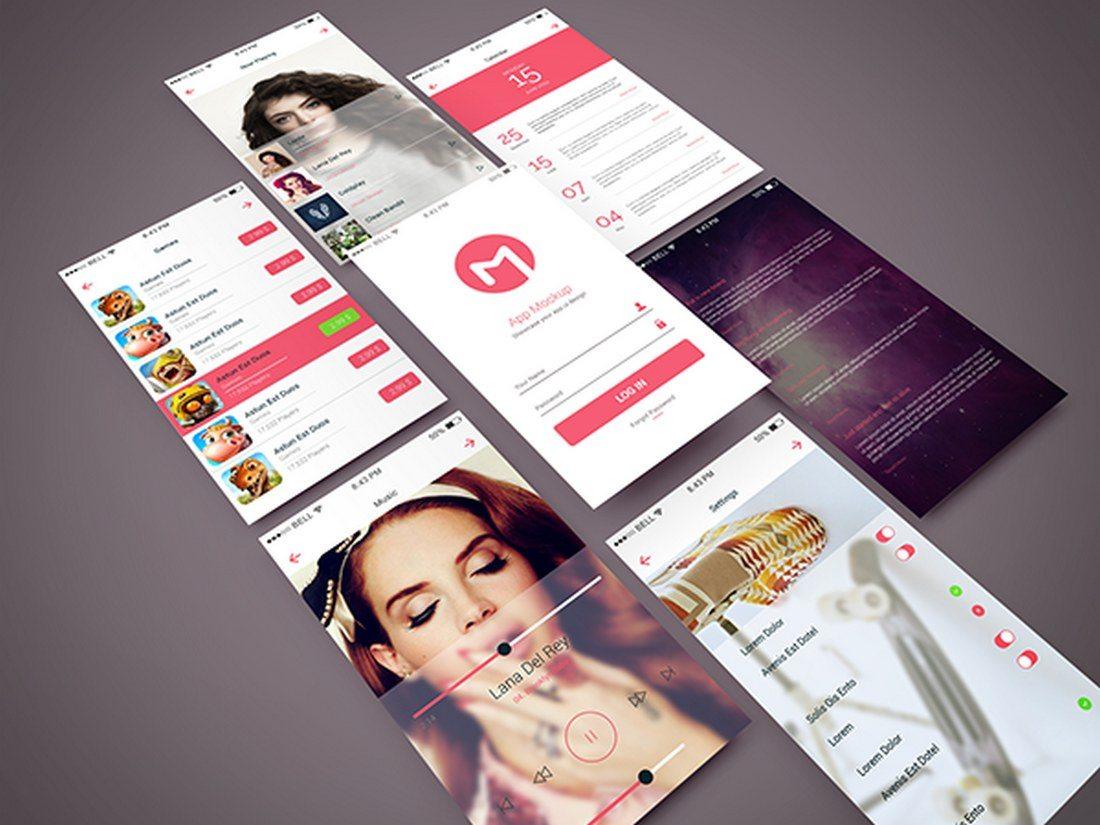 Isometric-App-Screen-PSD-Mockup 30+ Best Isometric Mockup Templates design tips