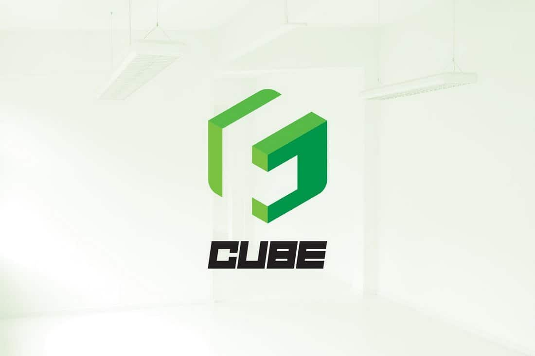 Isometric Cube Logo Template