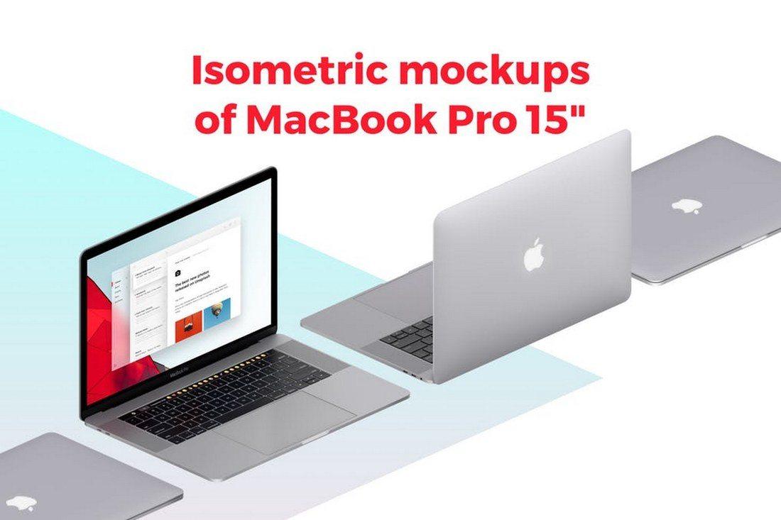 Isometric-MacBook-Pro-Mockup 30+ Best Isometric Mockup Templates design tips