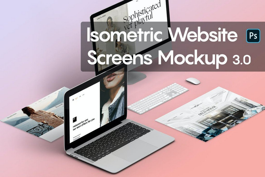 Isometric-Website-Mockup-PSD-Templates 40+ Best Website PSD Mockups & Tools 2020 design tips