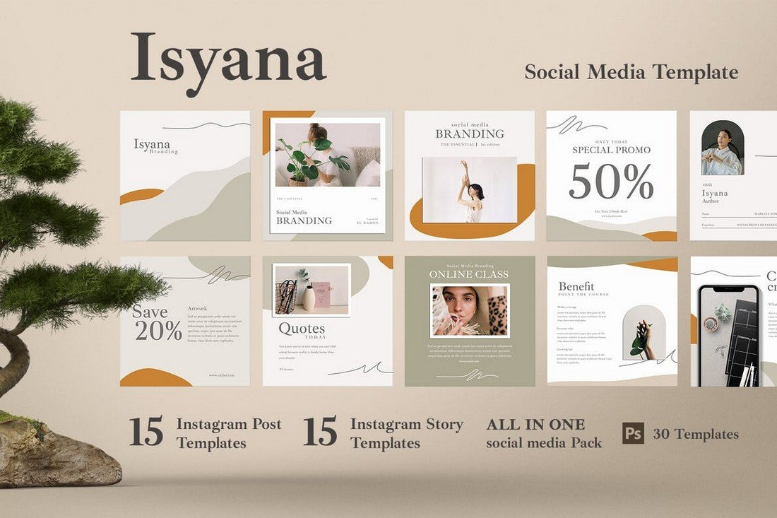 Isyana - 30 Instagram Post & Story Template