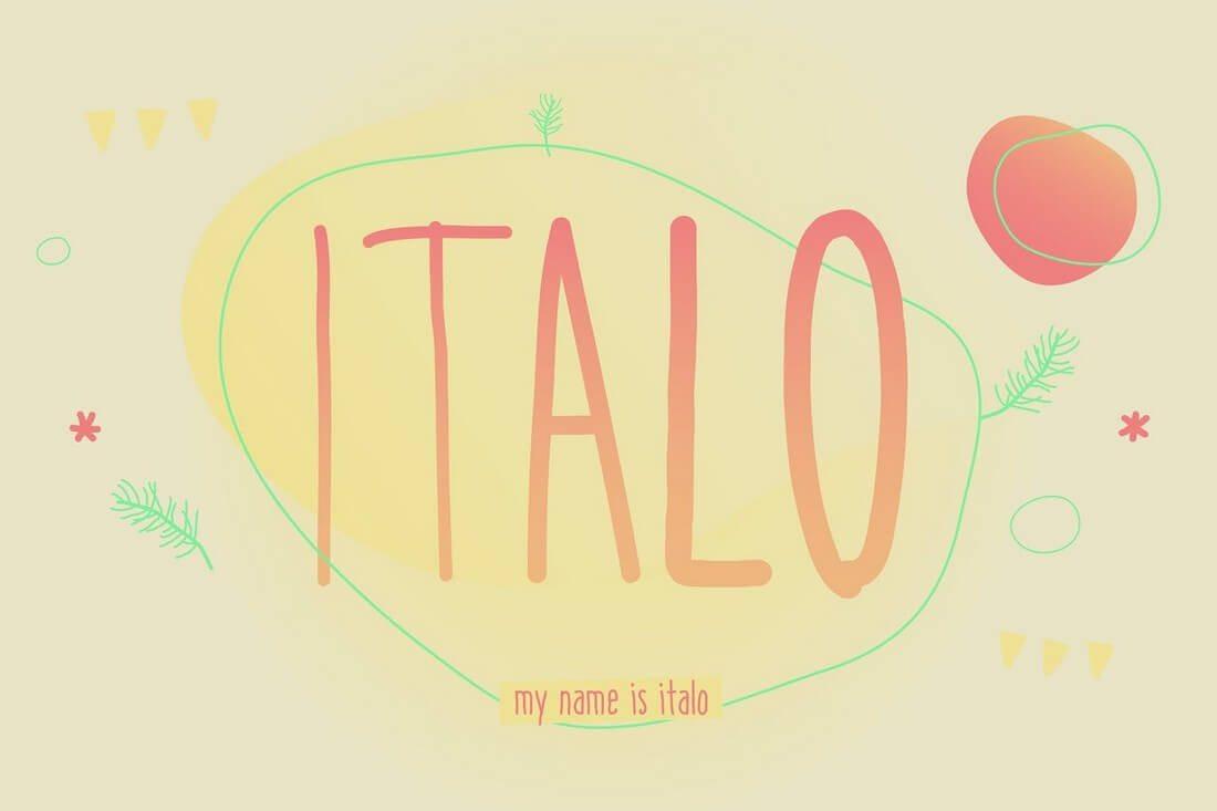 Italo 60+ Best Big, Poster Fonts of 2019 design tips