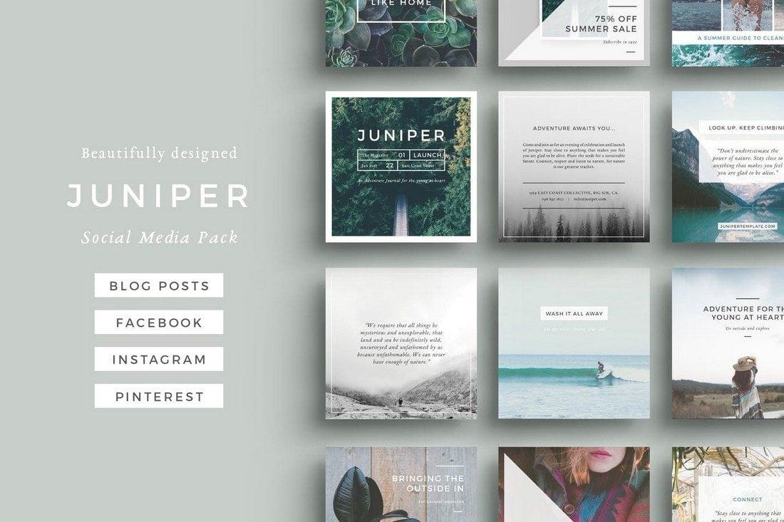 J-U-N-I-P-E-R-Social-Media-Pack 20+ Best Facebook Cover & Post Mockups design tips