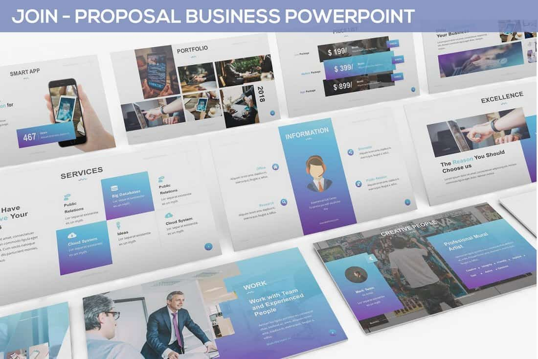 JOIN - Modèle PowerPoint de proposition commerciale