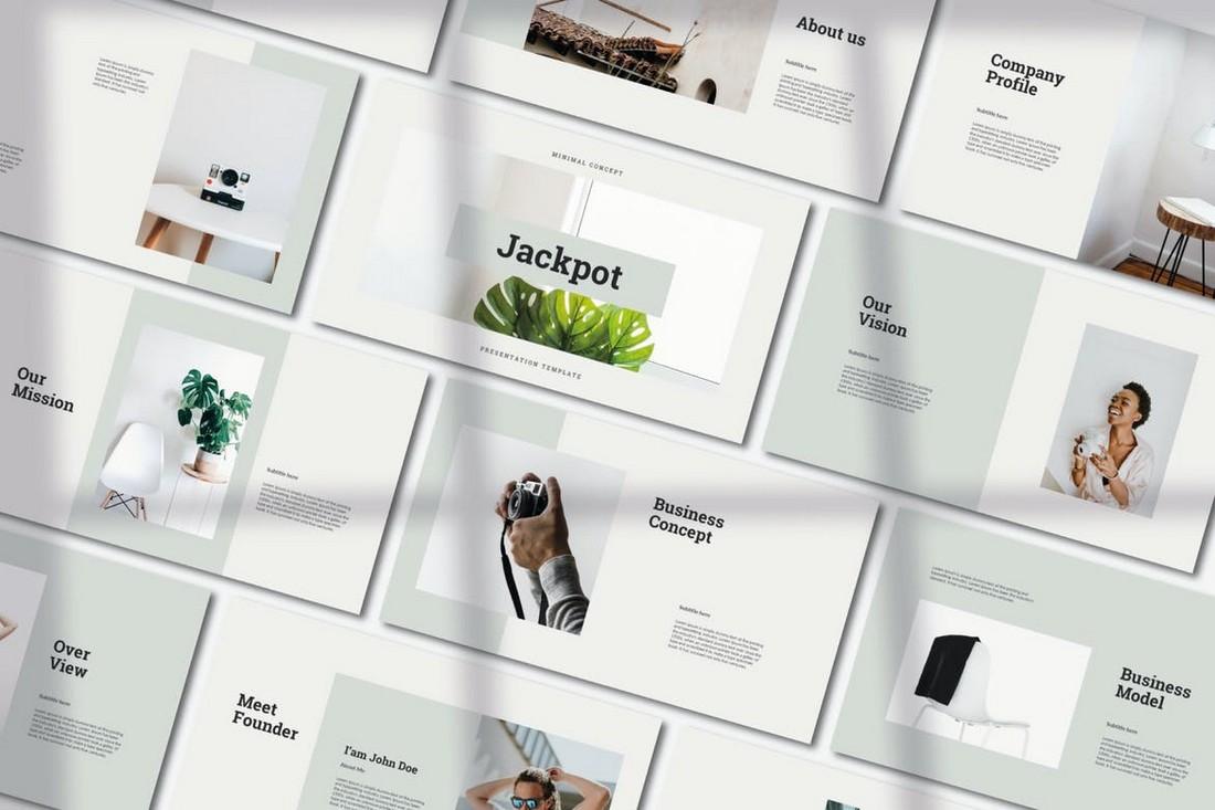 Jackpot - Minimal PowerPoint Template