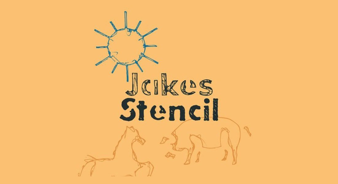 Jakes - Free Stencil Font Family