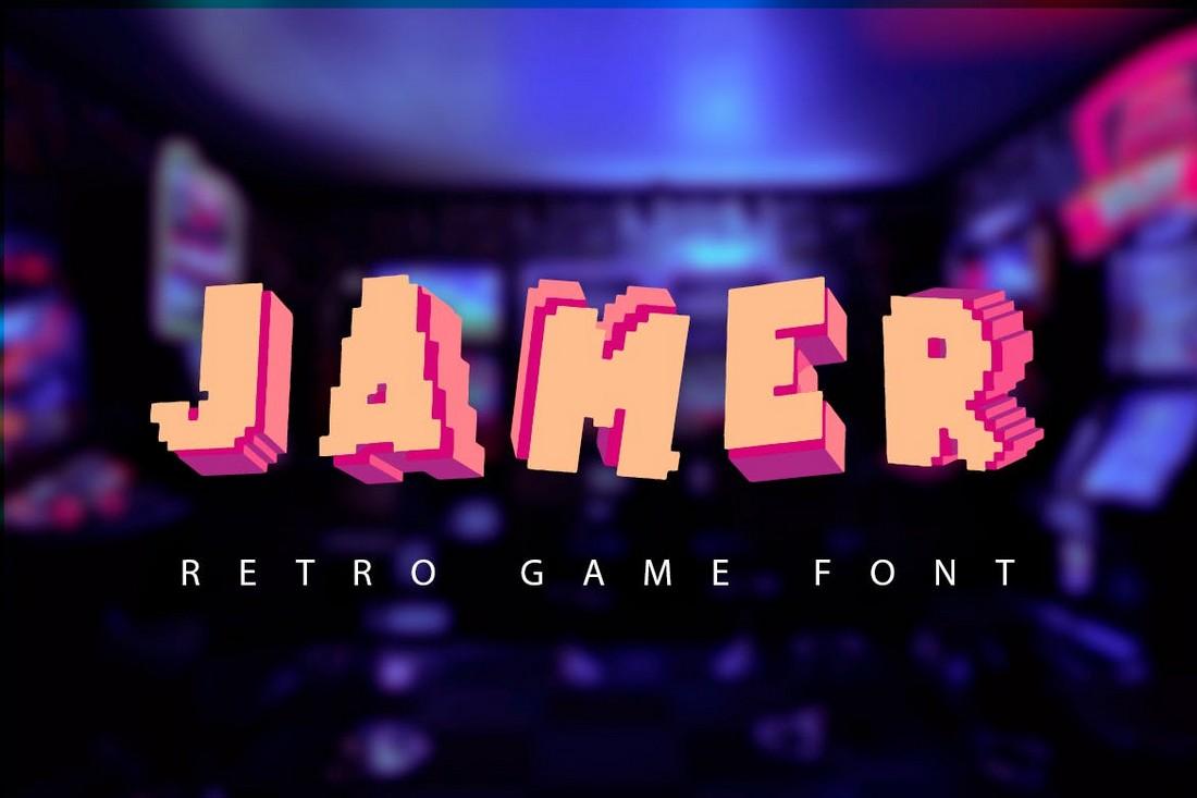 Jamer - Retro Game 3D Font