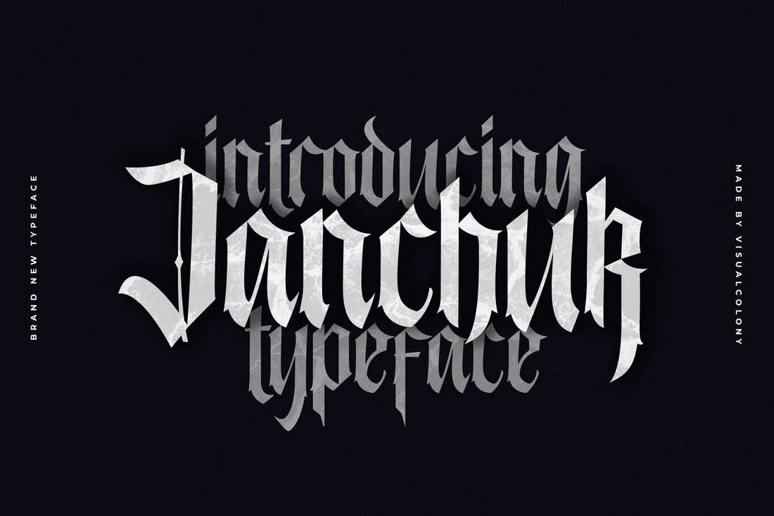 Janchuk-Gothic-Font 20+ Best Gothic Fonts design tips