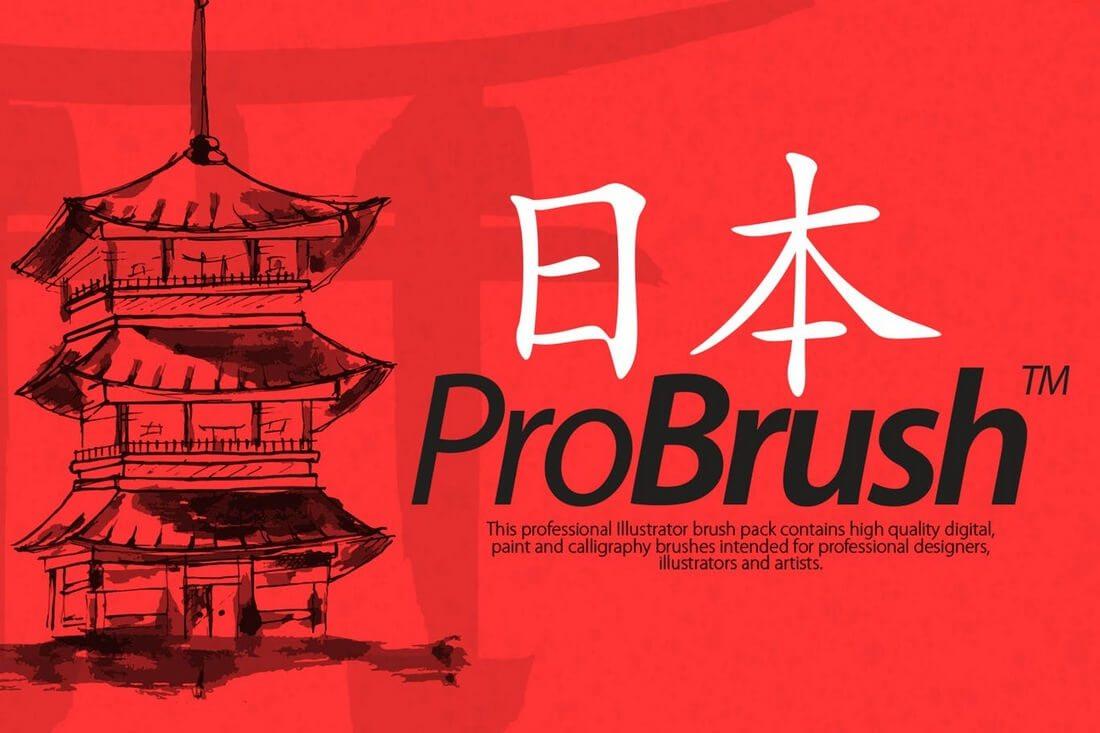 Japan-ProBrush 30+ Best High-Quality Photoshop & Illustrator Brushes design tips
