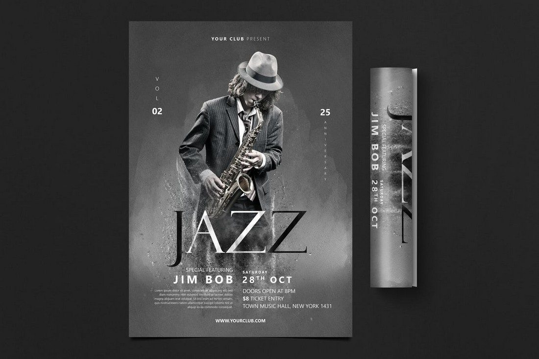 Jazz-Flyer 30+ Best Music & Band Flyer Templates design tips