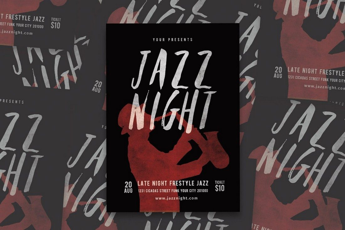 Jazz-Music-Flyer 30+ Best Music & Band Flyer Templates design tips
