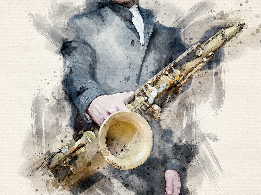Jazzman - Free Watercolor Photoshop Action