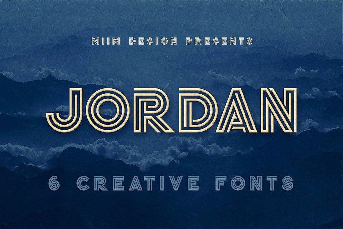 Jordan-Display-Font 30+ Best Modern & Futuristic Fonts design tips